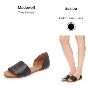 Barely worn Madewell Thea Sandal in Black Leather